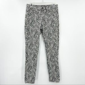 NYDJ Gray Animal Print Legging Jeans, Stretch